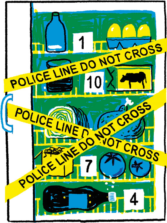 BBC Good Food illustration fridge do don't eggs crimes wrong